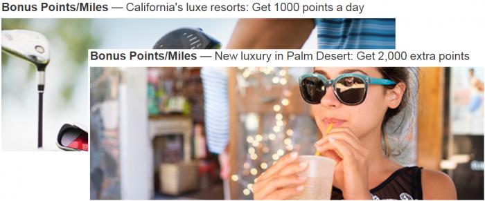 Marriott Rewards California Luxe Resort Bonus Points