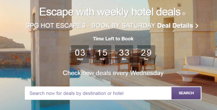 SPG Hot Escapes December 20 2017