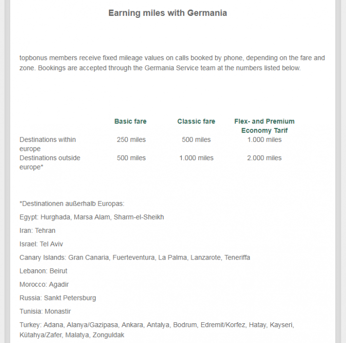 Topbonus Germania Earning