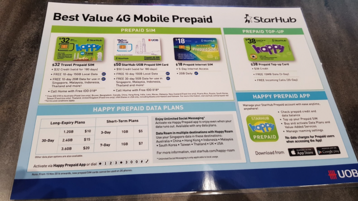 Fabulous Fridays: Starhub Happy Prepaid SIM Card From Singapore For