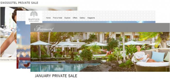 Fairmont Swissotel Raffles January 2018 Private Sales