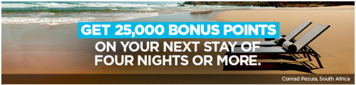 Hilton Honors 25,000 Points Winback 2018