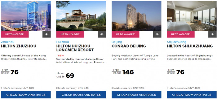 Here Are The Paring Properties And Maximum Offered By Hotel Conclusion Seems That Hilton Honors