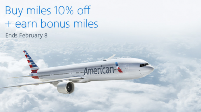 American Airlines Buy AAdvantage Miles Campaign February 2018
