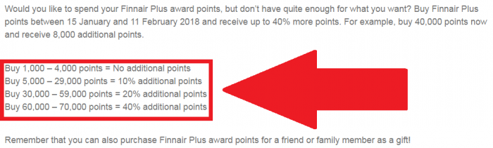 Finnair Plus Buy Points February 2018 Bonus