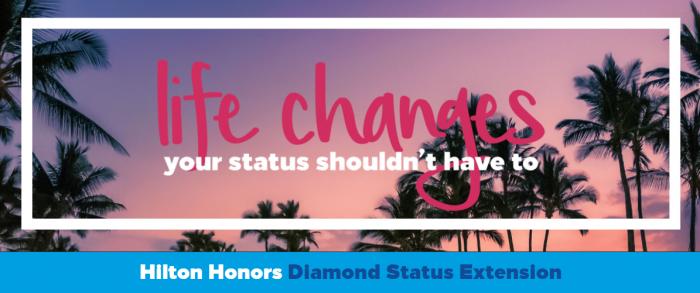 Hilton Honors Diamond Status Extension