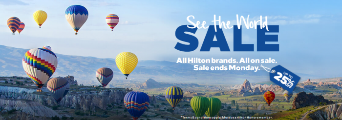 Hilton Honors See The World Europe Middle East Africa Sale March 2018