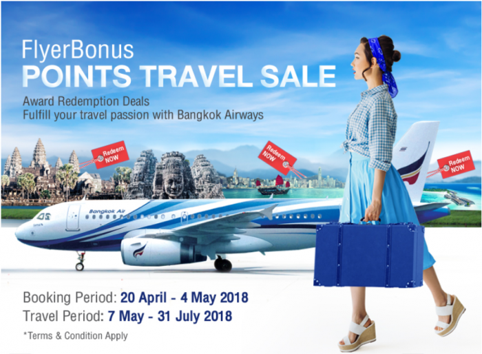Bangkok Airways FlyerBonus Award Sale Spring 2018