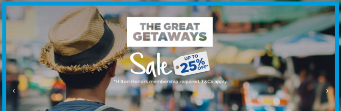 Hilton Honors The Great Getaways Sale APAC