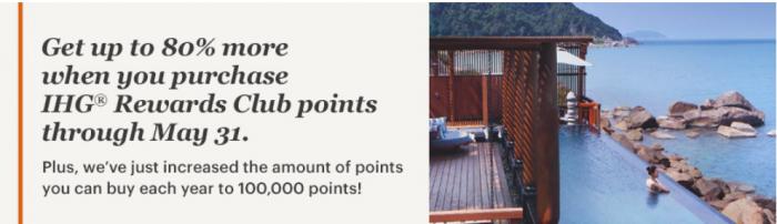 IHG Rewards Club Buy Points Campaign April - May 2018