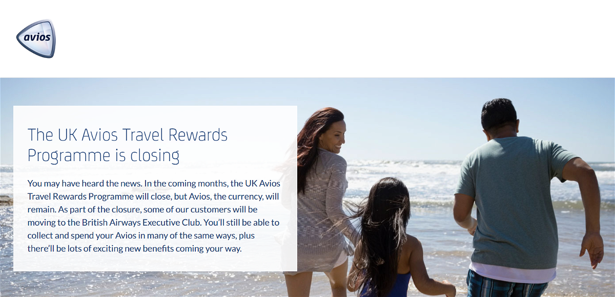 UK Avios Travel Programme