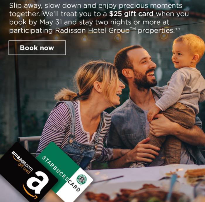 Radisson Rewards Amazon Starbucks Gift Card Promo