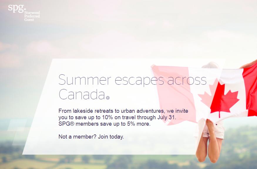 SPG Canada Summer Escapes