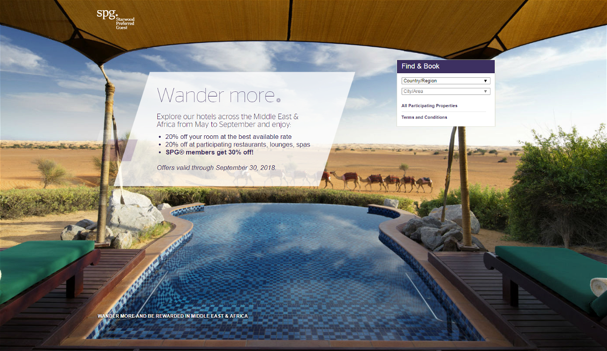 SPG Middle East & Africa 30 Percent Off Sale