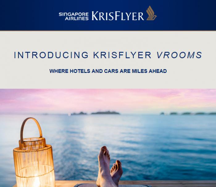 Singapore Airlines KrisFlyer VROOMS
