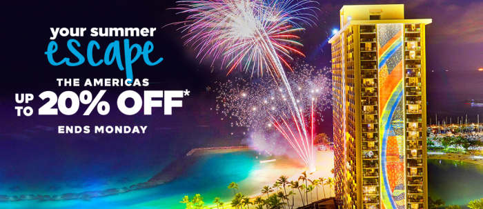 Hilton Honors Americas Up To 20 Percent Off Summer 2018