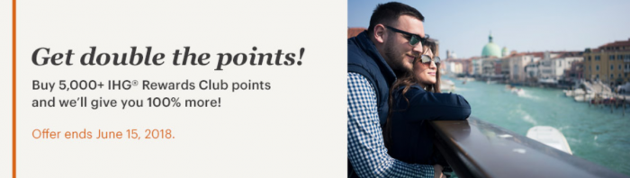 IHG Rewards Club Buy Points Flash Sale June 2018