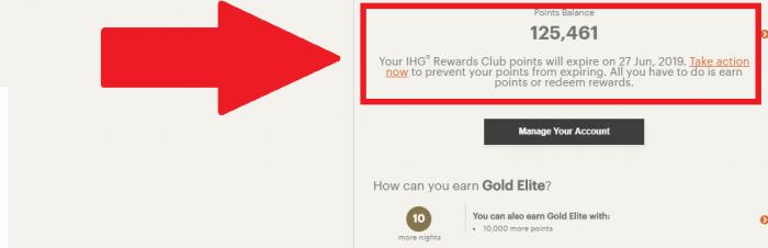 IHG Rewards Club Points Expiry New