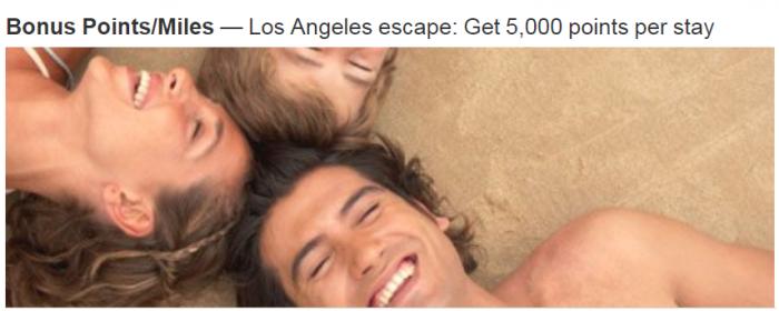 Marriott Rewards Los Angeles 5000 Bonus Points Per Stay Summer 2018