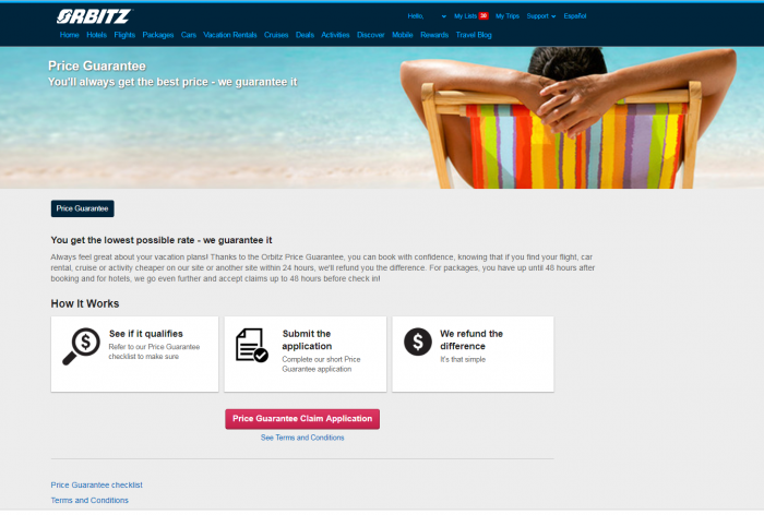 Orbitz Price Guarantee Gone New