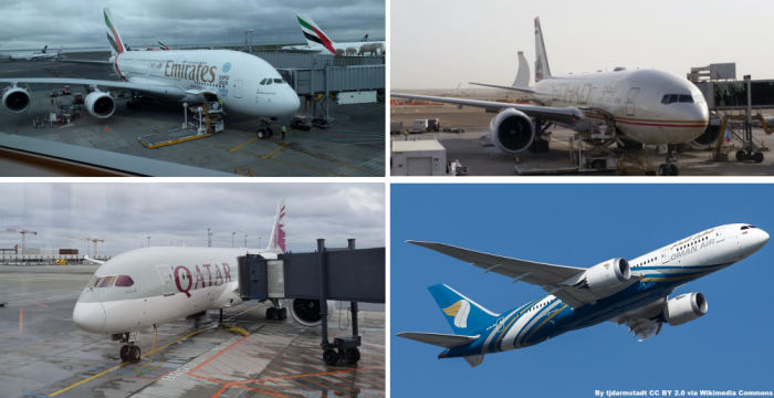Emirates Etihad Qatar Oman Air