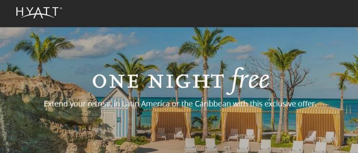 Hyatt Fourth Night Free Caribbean