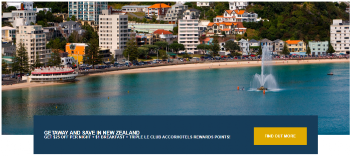 Le Club AccorHotels New Zealand Triple Points