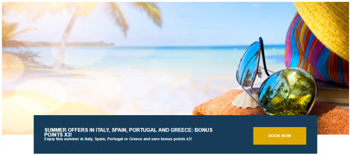 Le Club AccorHotels Southern Europe Triple Points Summer 2018