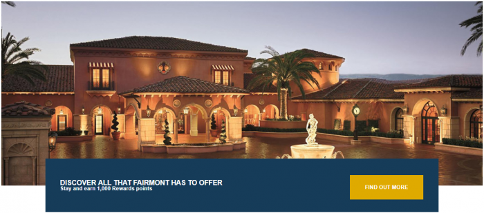 Le Club AccorHotels Fairmont North America Offer