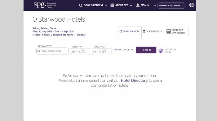 Starwoods Taiwan Struggles No Hotels
