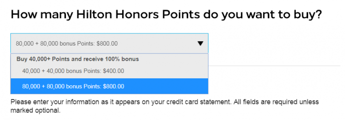 Hilton Honors Buy Points Flash September 2018 Packages