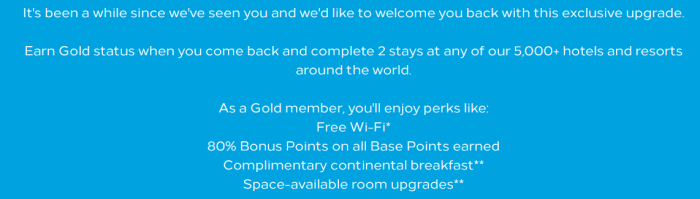 Hilton Honors Fast Track To Gold Benefits