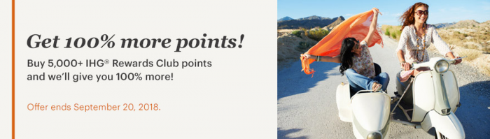 IHG Rewards Club Buy Points September 2018