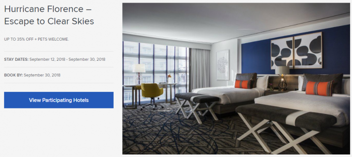 IHG Rewards Club Kimpton Hurricane Florence 35 Off Offer