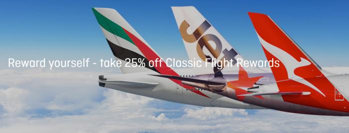 Qantas Frequent Flyer Classic Flight Rewards Discount Fall 2018