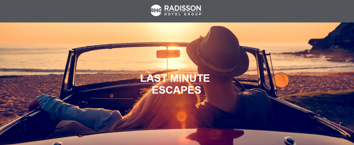 Radisson Rewards Last Minute Escapes September 27 2018