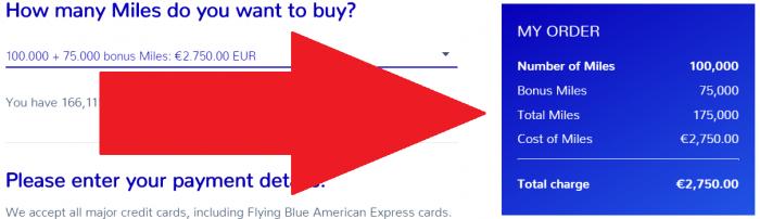 Air France - KLM FLying Blue Buy Miles October 2018 Sale Price