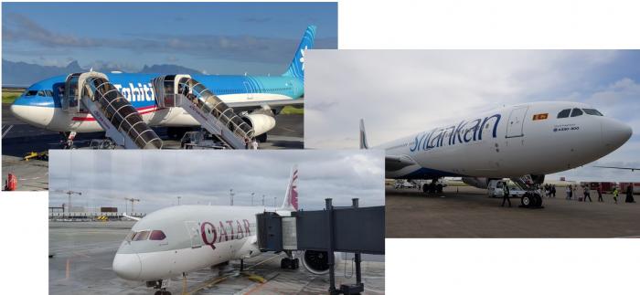 American Airlines Air Tahiti Nui Sri Lankan Qatar Airways