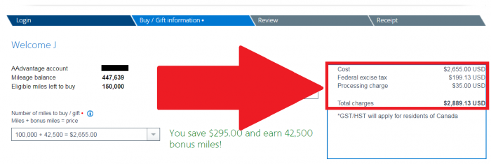 American Airlines Buy AAdvantage Miles Campaign October 2018 Price
