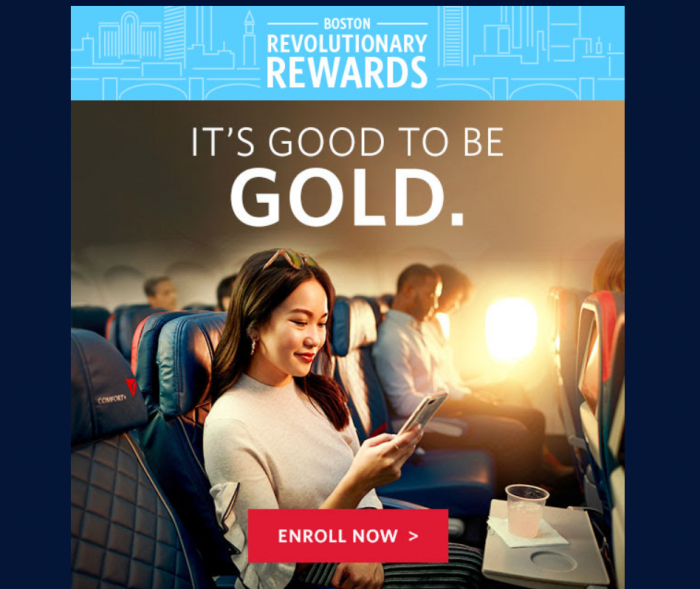 Delta Air Lines SkyMiles Boston Gold Offer