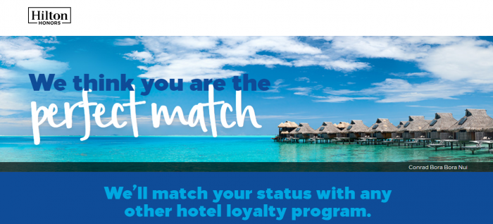 Hilton Honors Status Match October 2018