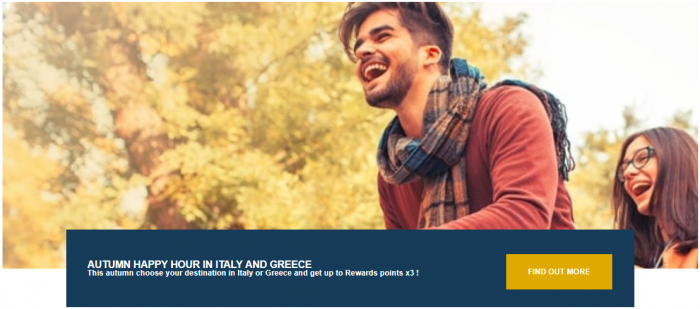 Le Club AccorHotels Italy & Greece Triple Points Fall 2018
