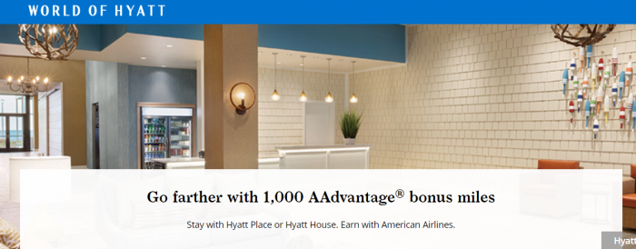 World of Hyatt American Airlines Select Service Promotion Fall 2018