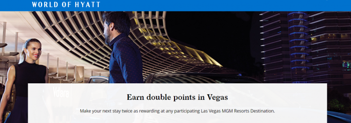 World of Hyatt Double Points MGM Properties Las Vegas U