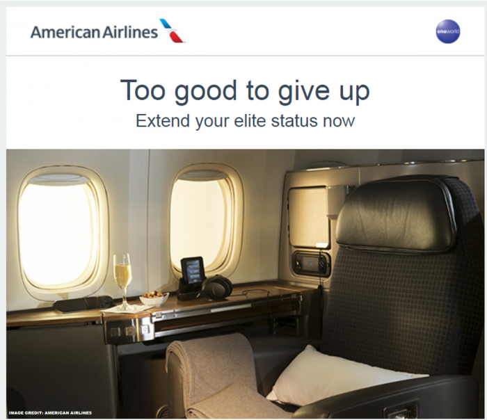 American Airlines AAdvantage Elite Status Extension Offer