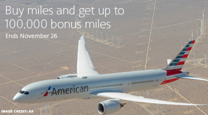 American Airlines Buy AAdvantage Miles November 2018 Special