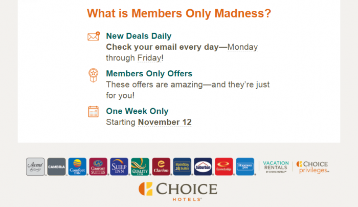 Choice Privileges Member Madness November 2018 Email