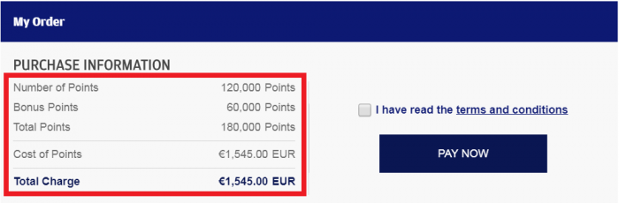 Finnair Plus Buy Points Campaign November 2018 Price