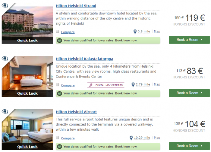 Hilton Honors EMEA Sale Fall 2018 Helsinki