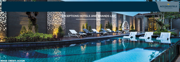 Le Club AccorHotels Exceptions Hotels & Brands List November 2018